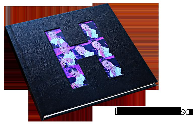 photobook bìa da khoét laser